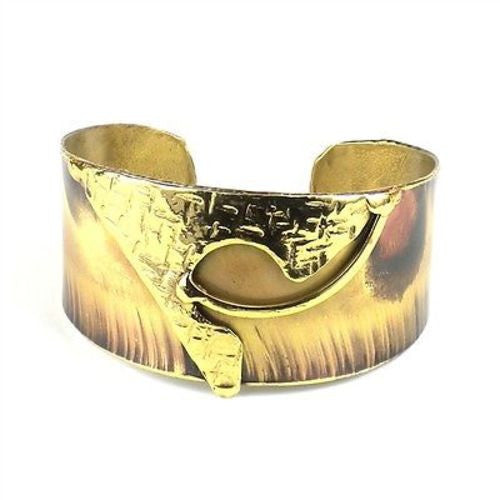 Muse Brass Cuff Handmade and Fair Trade