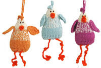 Alpaca Chicken Ornament Set of 3 - Peru