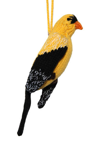 Cotton Gold Finch Ornament - Peru