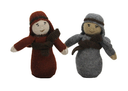 Alpaca Nativity Shepherd Set of 2 - Peru