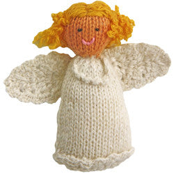 Alpaca Angel Girl Ornament - Blonde Hair - Peru