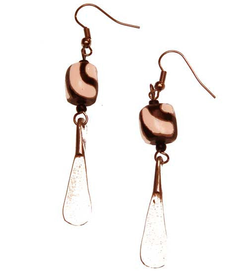 Aluminum Dangle Earrings - Kenya