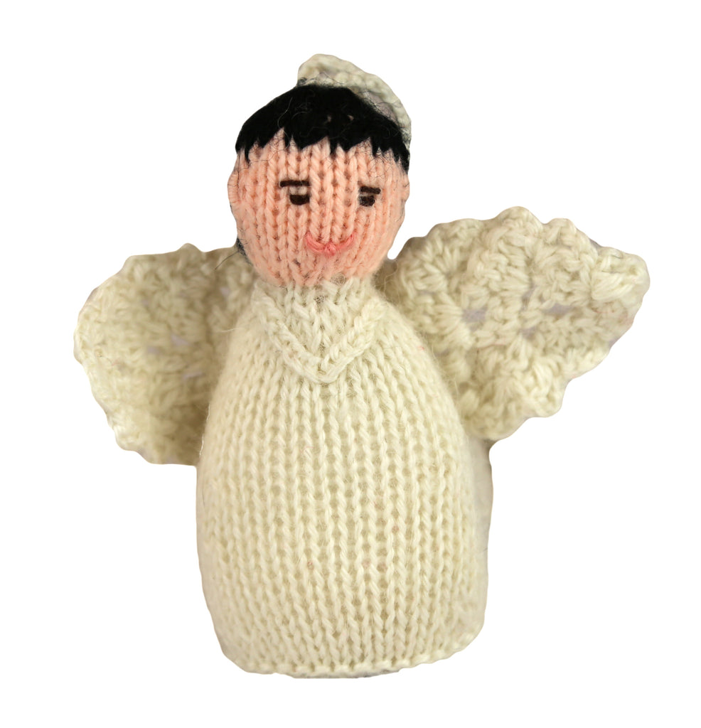 Alpaca Angel Boy Ornament - Black Hair - Peru
