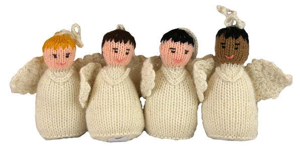 Alpaca Angel Boy Ornament Set of 4- Peru