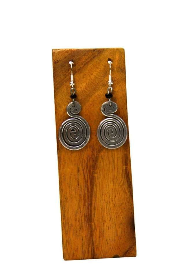 Silver Swirl Earrings - Kenya