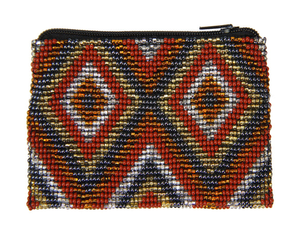 Lucia's Beaded Coin Purse Autumn Diamonds - Guatemala