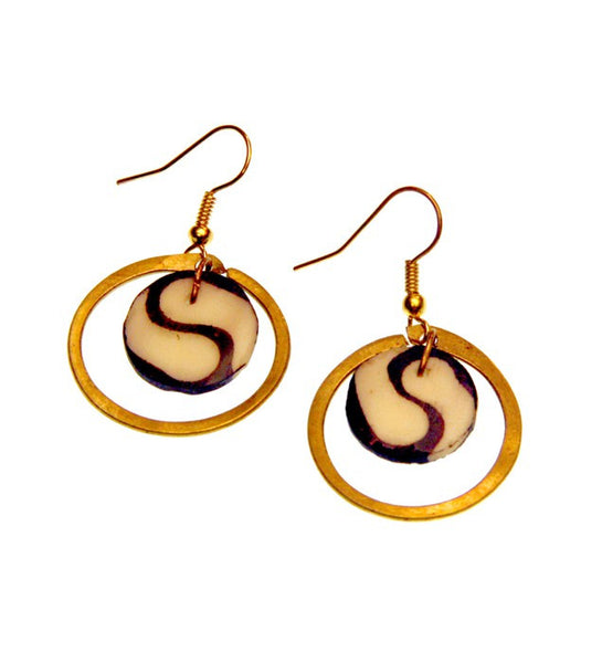 Brass Connections Earrings - Kenya