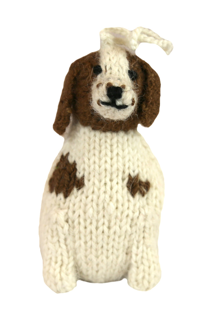 Alpaca Beagle / Spaniel Dog Ornament - Peru