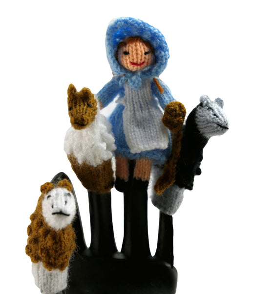 Little Bo Peep Finger Puppets Set of 4 - Peru