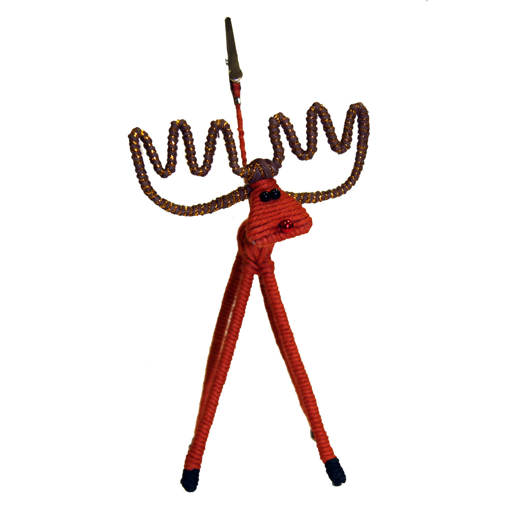 Yarn Brown Reindeer Large Picture Clip - Colombia