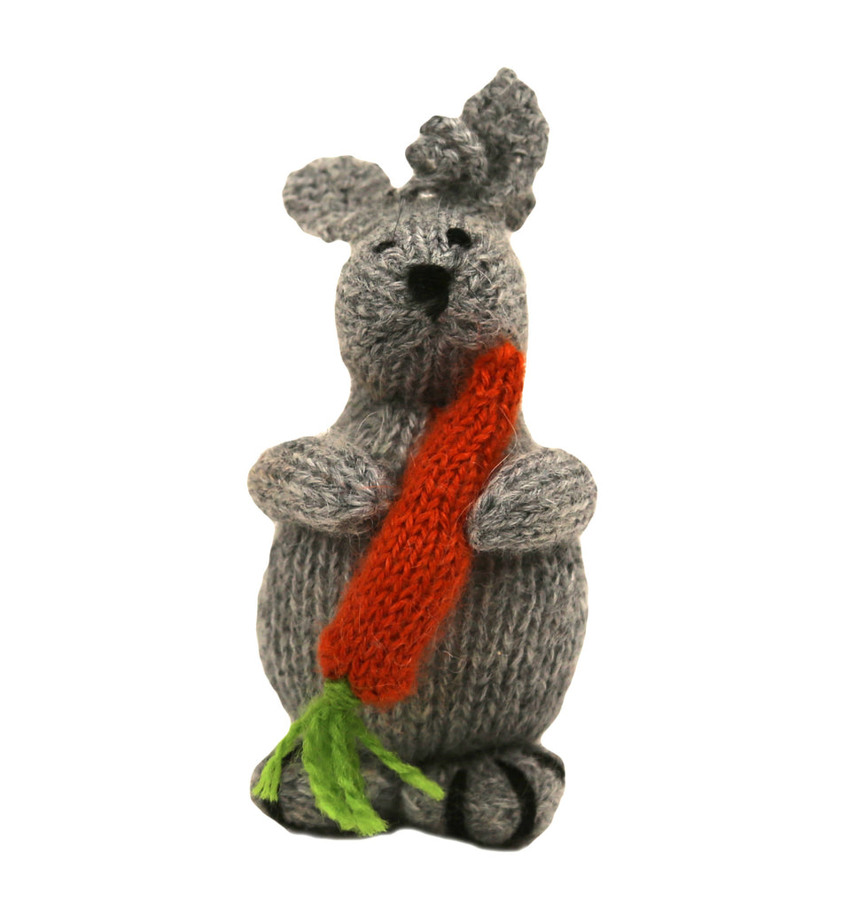 Alpaca Bunny Ornament with Carrot - Peru