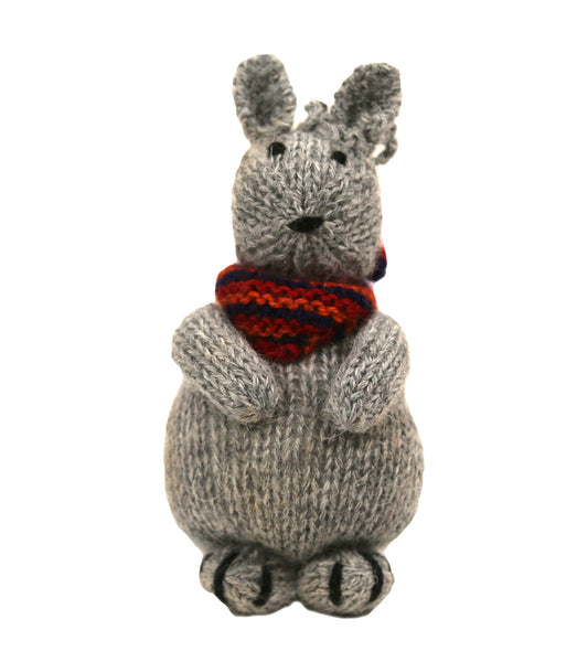 Alpaca Bunny Ornament with Scarf - Peru
