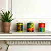 Set of Three Boxed Hand-Painted Candles - Matuko Design - Nobunto