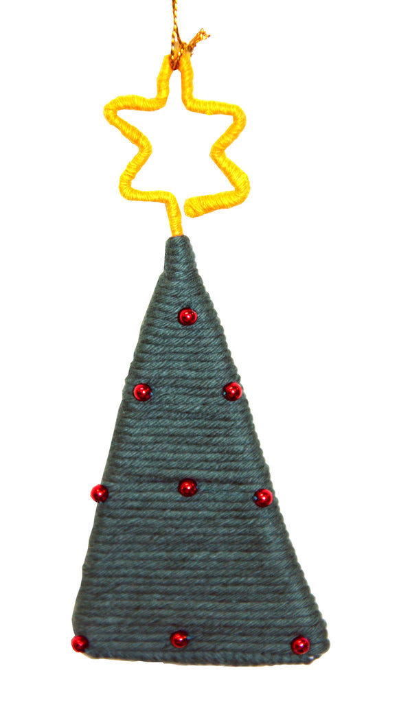 Yarn Christmas Tree Ornament - Colombia