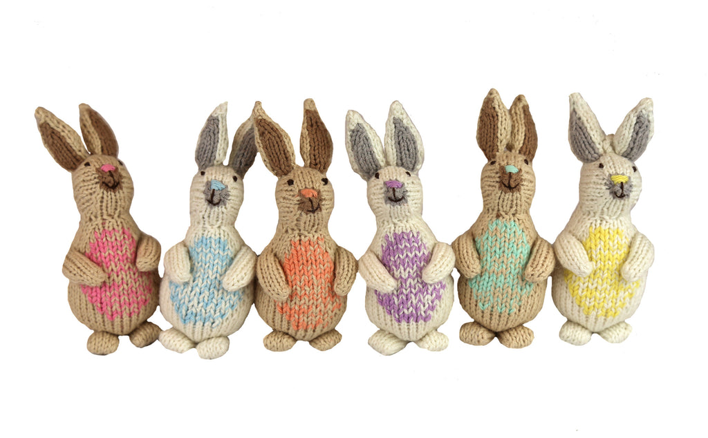 Cottontail Easter Bunny Ornament Set of 6 - Peru