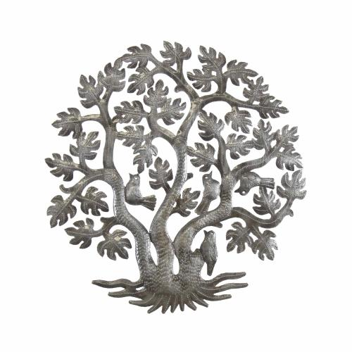 14 inch 3 Trunk Tree of Life Wall Art - Haiti