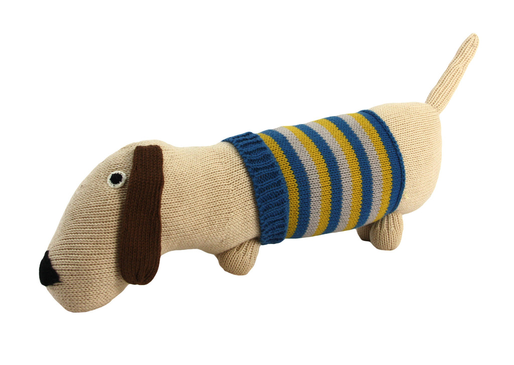 Dachshund Dark Blue Cotton Puppy Dog Stuffed Animal - Peru