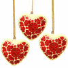 Handpainted Ornaments, Floral Heart - Pack of 3 - India