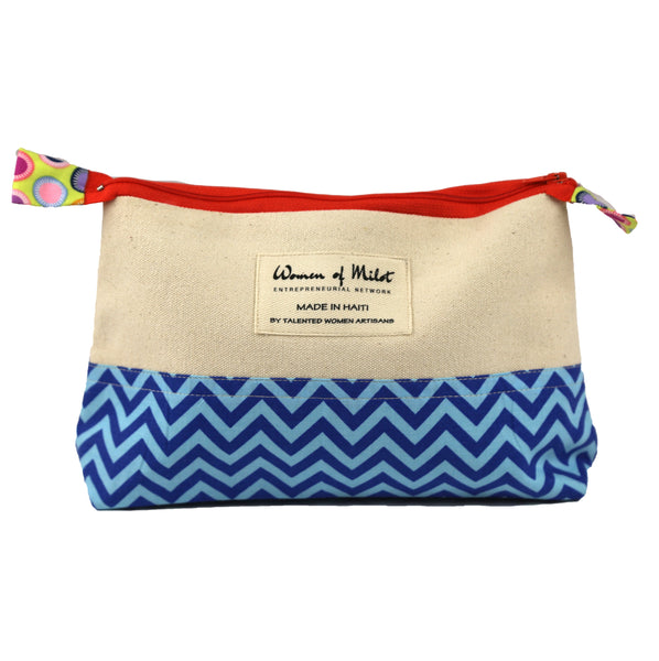 Chevron Make-Up Bag - Haiti