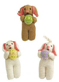 Alpaca Easter Bunny Ornament Set of 3 - Peru