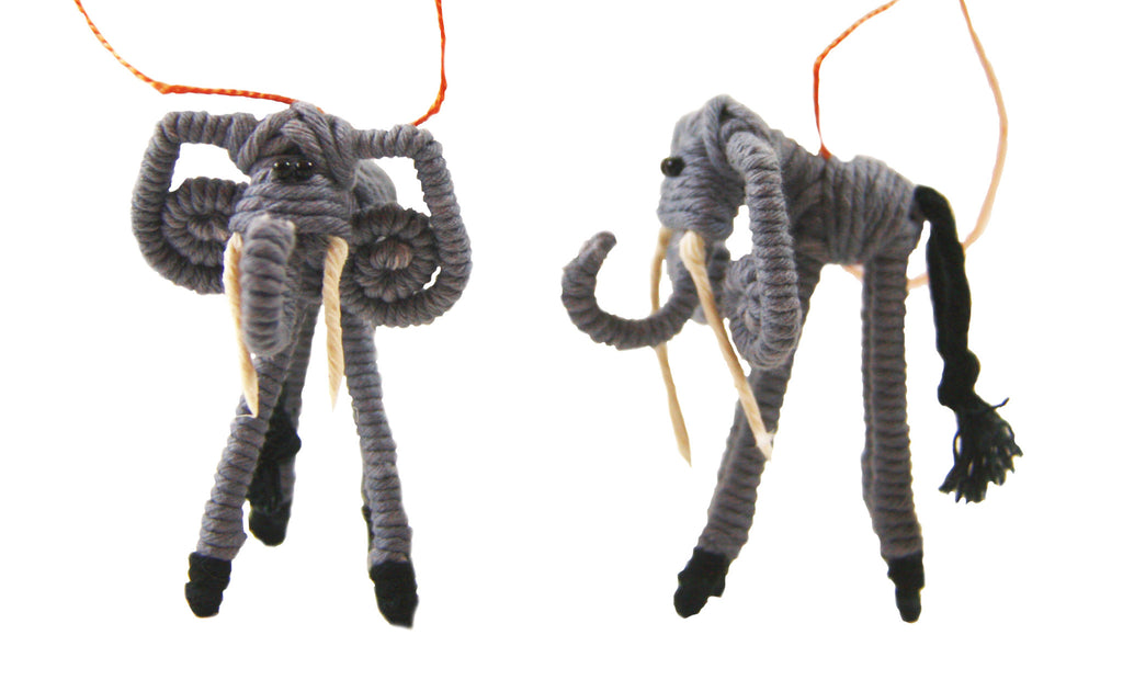 Yarn Elephant Ornament - Colombia