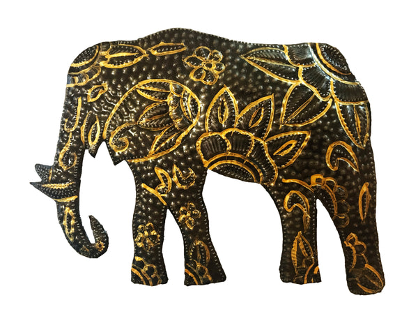 Elephant Metal Wall Art Sculpture - Haiti