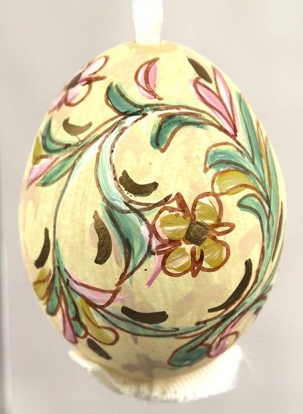 Floral Egg Ornament - Hand Painted - Austria