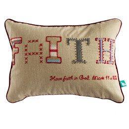Faith Pillow Cover - India