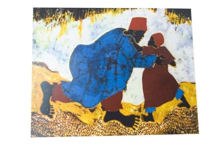 Father and Son Paul Nzalamba Painting - Uganda