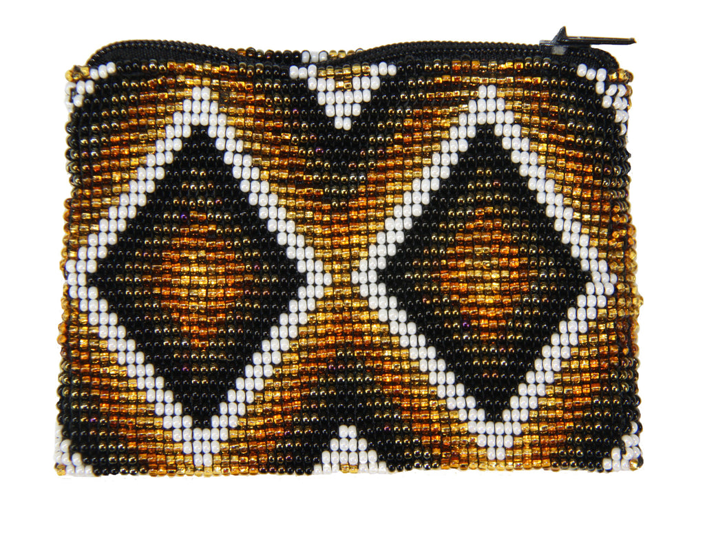 Lucia's Beaded Coin Purse Golden Diamonds- Guatemala