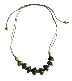Bombona Necklace Green -  Colombia