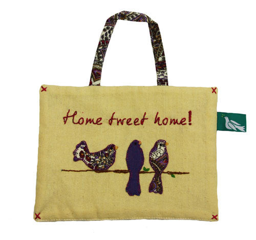 Home Tweet Home Linen Sign - India