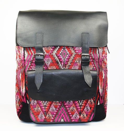 Leather Mayan Backpack - Guatemala