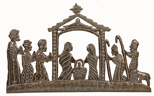 Honoring the King Metal Wall Art Nativity - Haiti