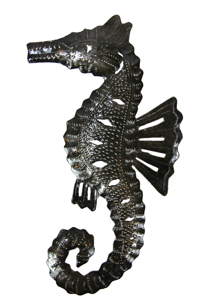 Seahorse Wall Art large metal seahorse wall art - haiti – global handmade hope