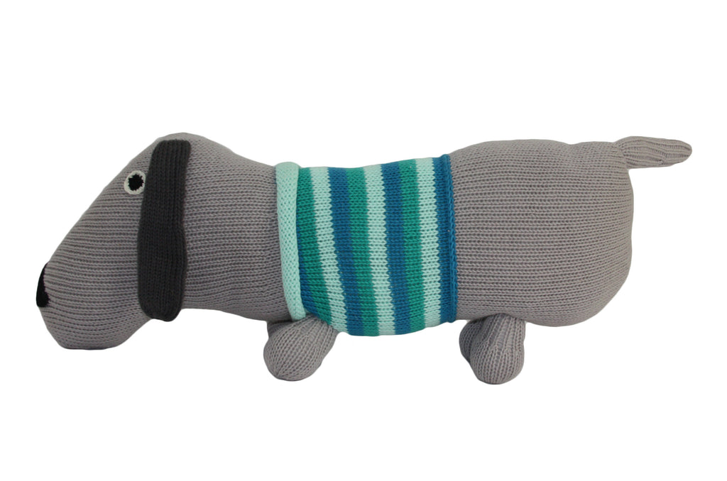 Dachshund Light Blue Cotton Puppy Dog Stuffed Animal - Peru