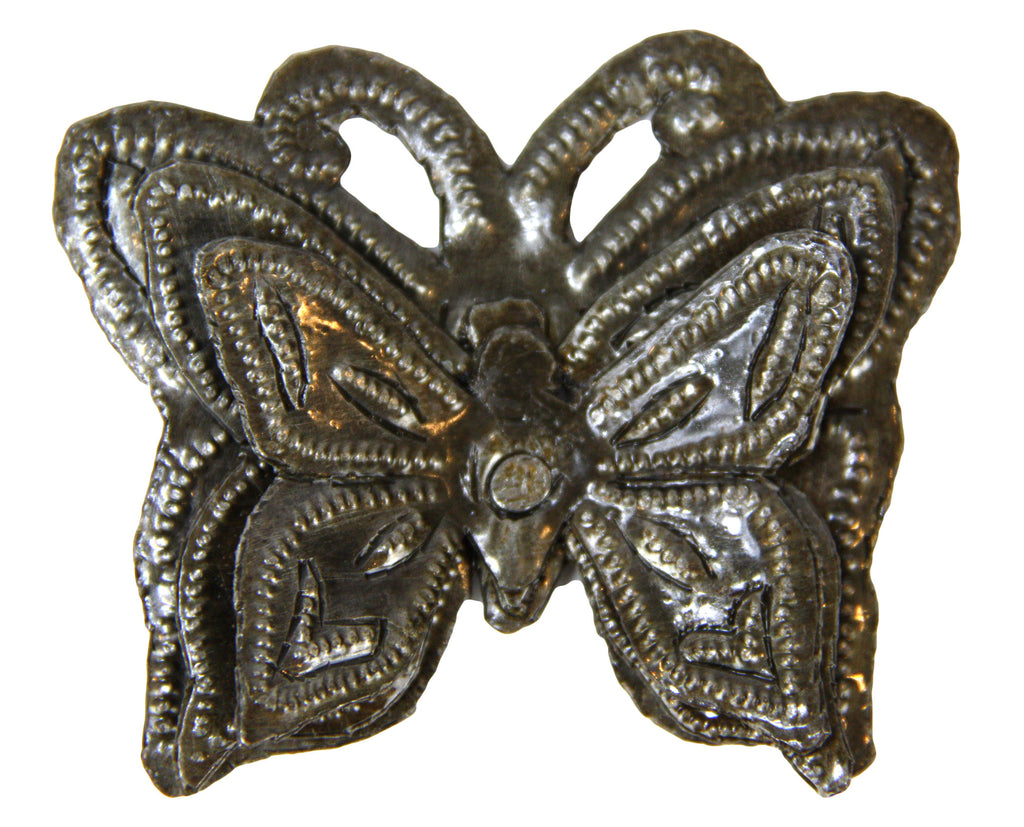 Mariposa (Butterfly) In Flight Metal Magnet - Haiti