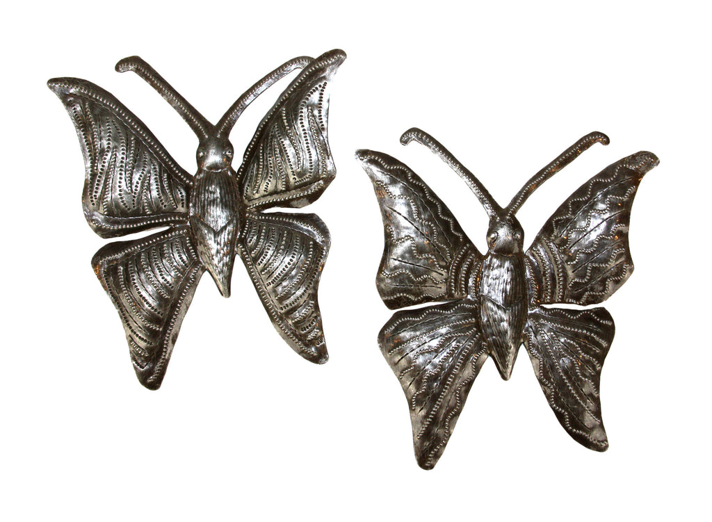 Large Butterfly Metal Wall Art - Haiti