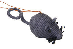 Yarn Mouse Ornament - Colombia