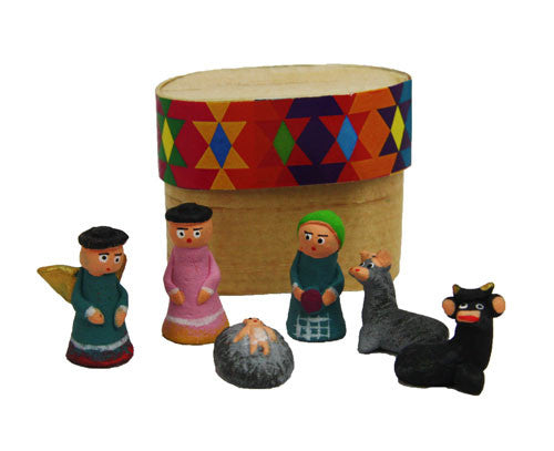 Boxed Clay Nacimento Nativity Set - Guatemala