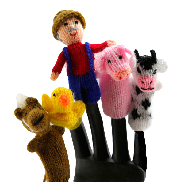 Old McDonald Finger Puppets Set of 5  - Peru