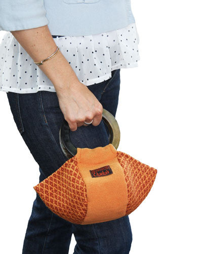 Chacha's Orange Woven and Horn Purse - Peru