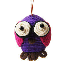 Yarn Owl Ornament - Colombia