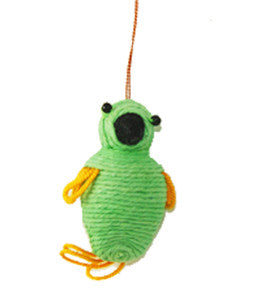 Yarn Parakeet Ornament - Colombia