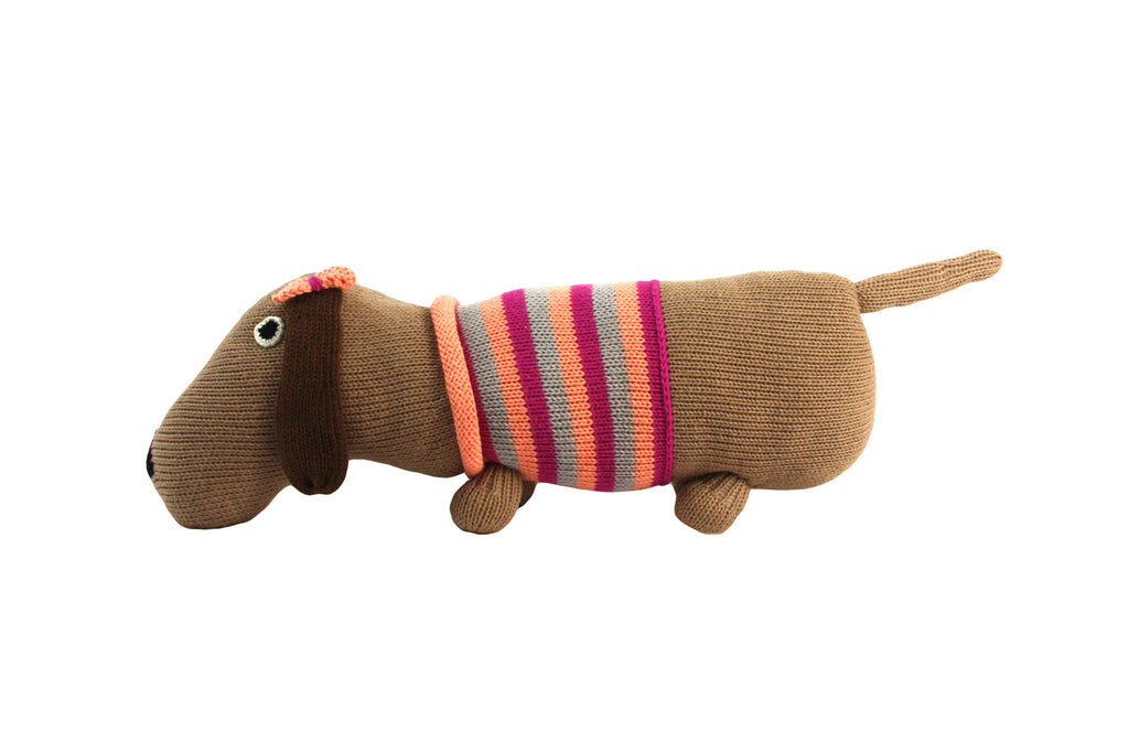 Pink Cotton Puppy Dog Stuffed Animal - Peru