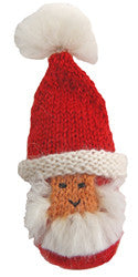 Alpaca Puffy Santa Ornament -  Peru