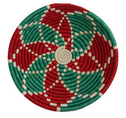 Red Green Holiday Delight 12 Inch Basket - Rwanda