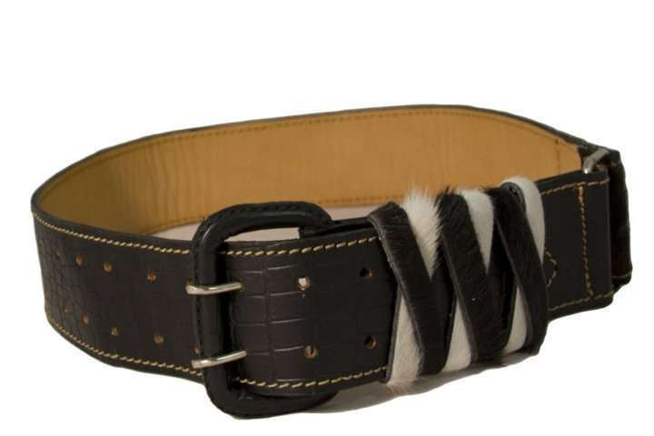 Sumaqkay Paracas Black Leather Belt - Peru