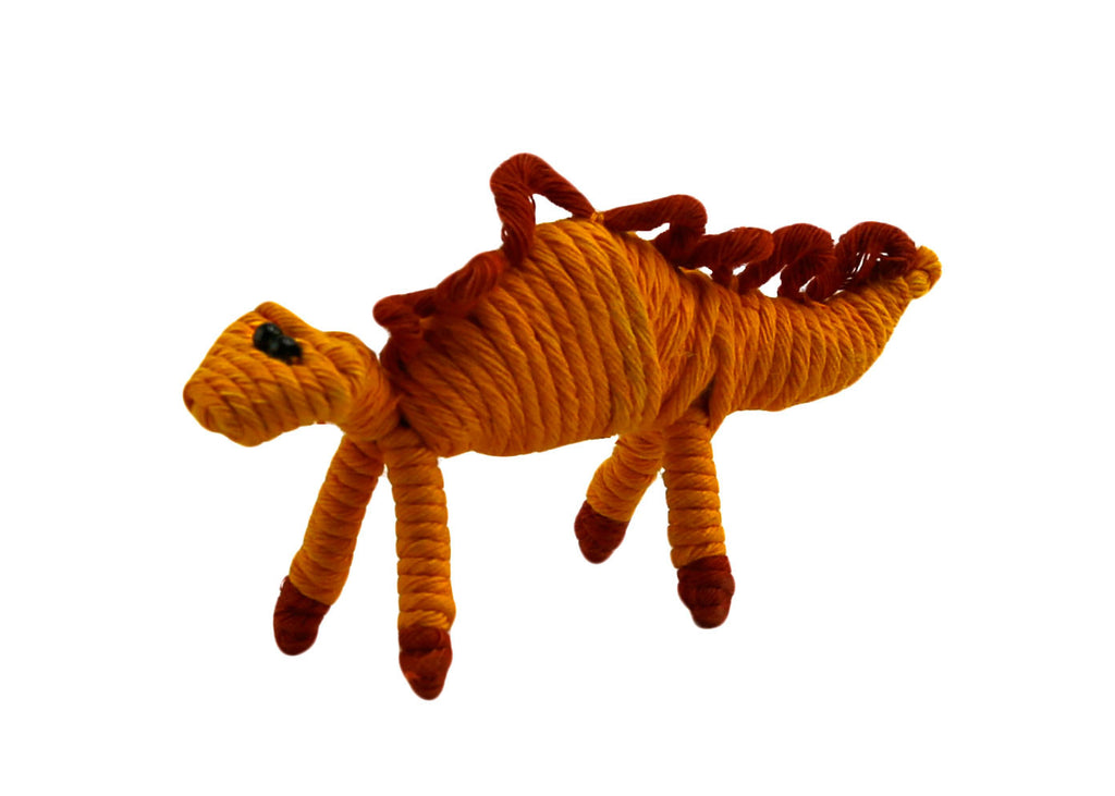Yarn Stegosaurus Dinosaur Ornament - Colombia