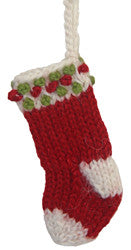 Alpaca Stocking Ornament - Peru